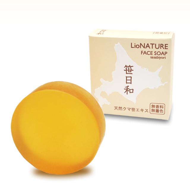 美肌洗顔石鹸、笹日和(無香料タイプ)