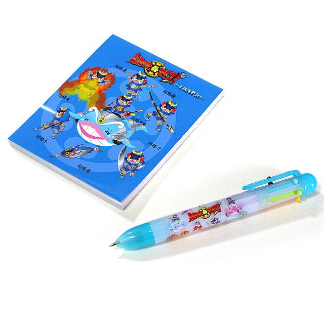 高知ゆるキャラ「超速可変モドリガ」・ノートと6色ボールペン・セット