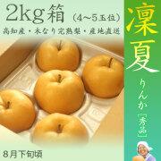 凜夏(りんか)梨(なし)・秀品・2kg・5玉前後入・木なり完熟・【産地直送】