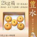 豊水 梨 (ほうすい なし)・秀品・2kg・5~6玉入り・徳久梨園の木なり完熟・豊水 【産地直送】