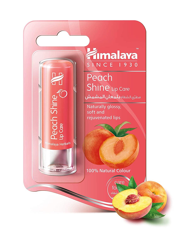 ヒマラヤ ハーバルズ ピーチシャイン リップスティック 4.5g [Himalaya Natural Soft Vanilla Lip Care]