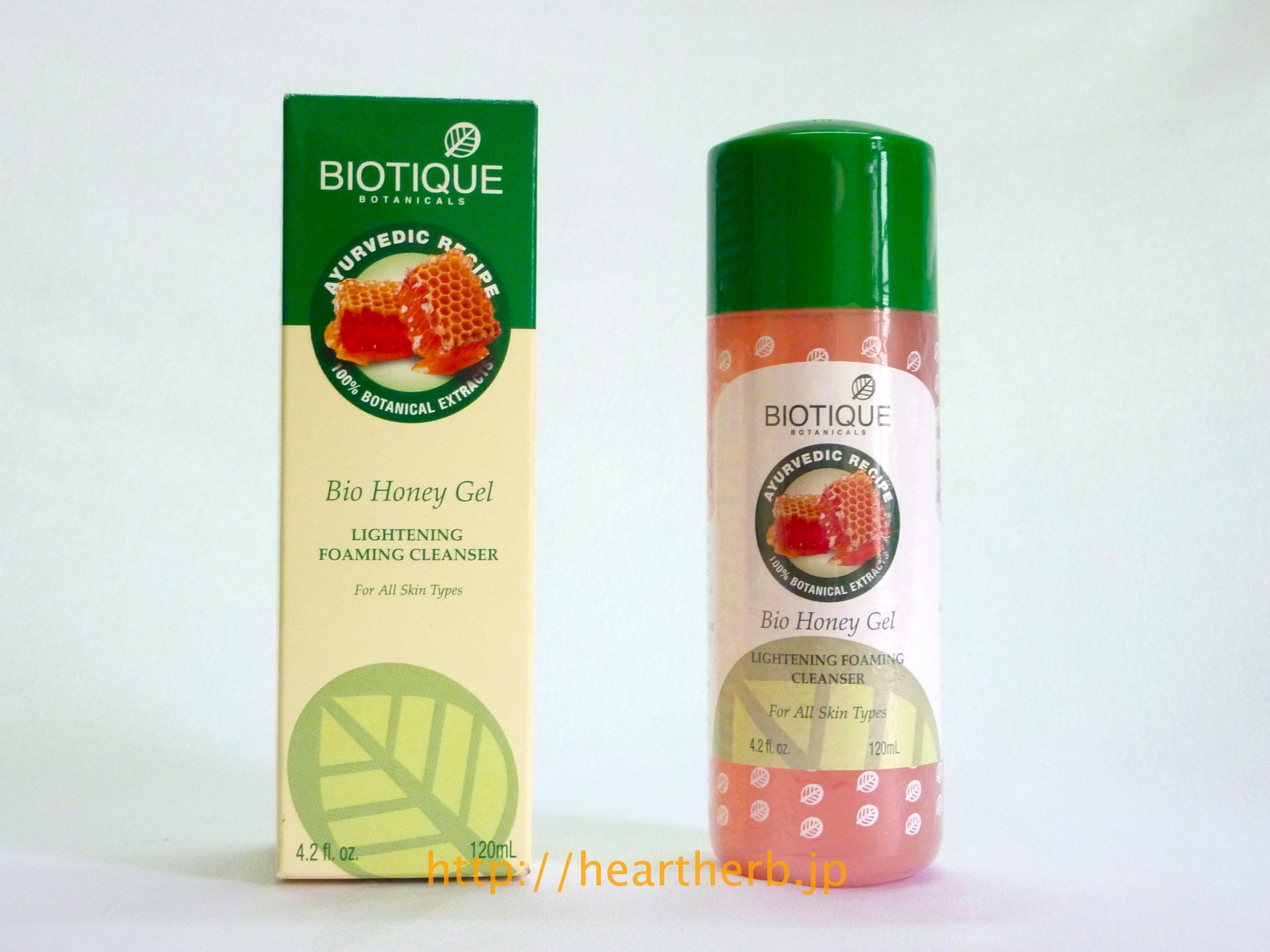 バイオティーク ハニージェル ソープフリー クレンザー, biotique bio honey gel cleaser