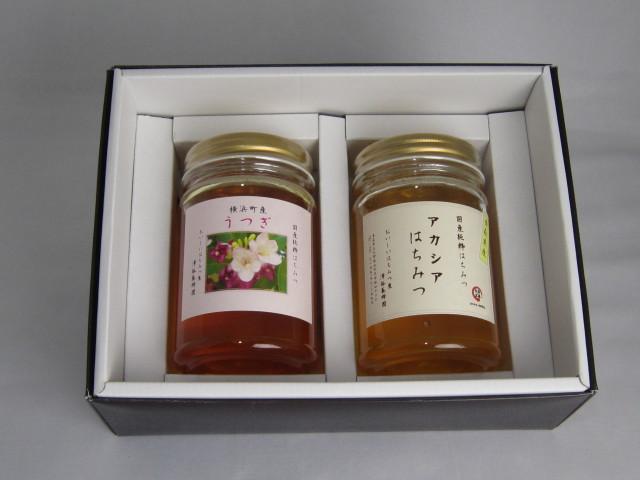 こだわりのはちみつ屋 澤谷養蜂園 自家採取 国産蜂蜜ギフトE 420g2本入(アカシア・うつぎ)