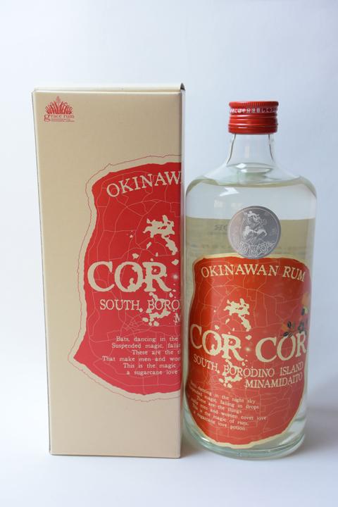 【国産ラム酒】グレイスラム コルコル(赤ラベル)40度 720ml  CORCOR アンデュストリエル