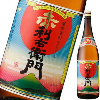 【芋焼酎】紅薩摩芋仕込 赤利右衛門 25度 1800ml 【指宿酒造謹製】