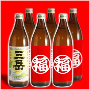 【福袋】芋焼酎銘酒「三岳」が必ず入る! 本格焼酎小瓶6本飲み比べセット 【三岳・霧島ゴールドラベルほか小瓶6本組】