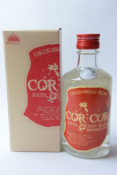 【国産ラム酒】グレイスラム コルコル(赤ラベル) 40度 300ml CORCOR アンデュストリエル