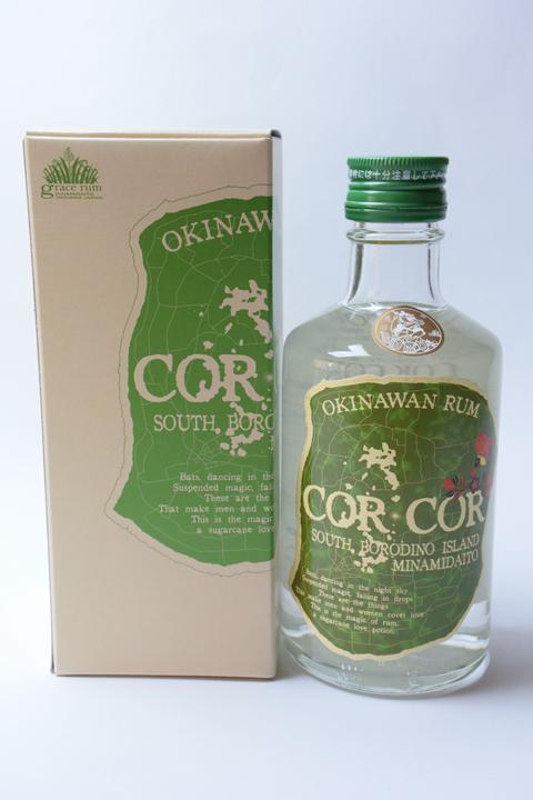 【国産ラム酒】グレイスラム コルコル(緑ラベル)40度 300ml  CORCOR アグリコール
