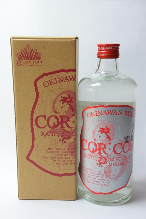 【国産ラム酒】グレイスラム コルコル(赤ラベル) 25度 720ml  CORCOR アンデュストリエル