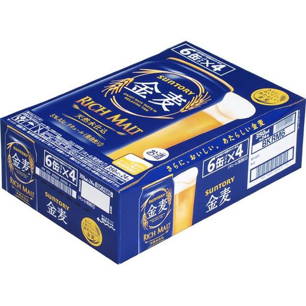 【ビール系飲料・新ジャンル】 サントリー 金麦 350ml缶×24本