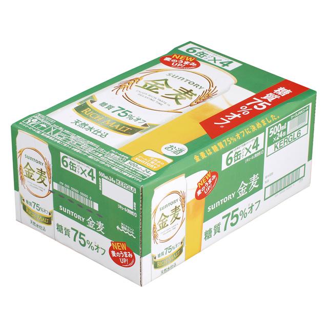 【ビール系飲料・新ジャンル】 サントリー 金麦 糖質75%オフ 350ml缶×24本