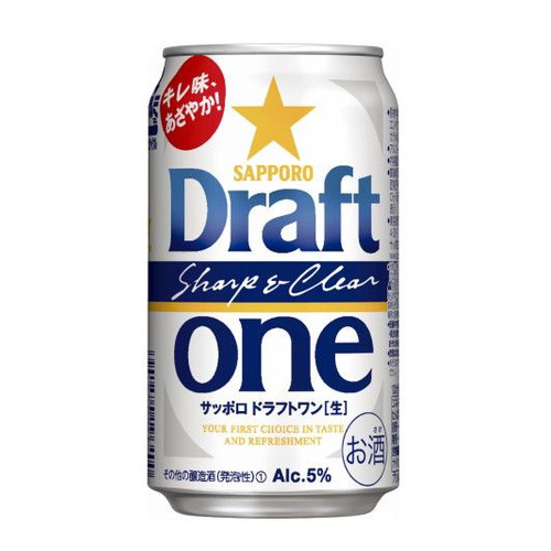 【ビール系飲料・新ジャンル】 サッポロ ドラフトワン 350ml缶×24本