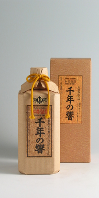 【泡盛古酒】千年の響 古酒 25度 720ml【今帰仁酒造所】