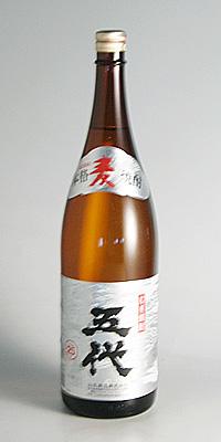 【麦焼酎】五代 銀ラベル 25度 1800ml【山元酒造】