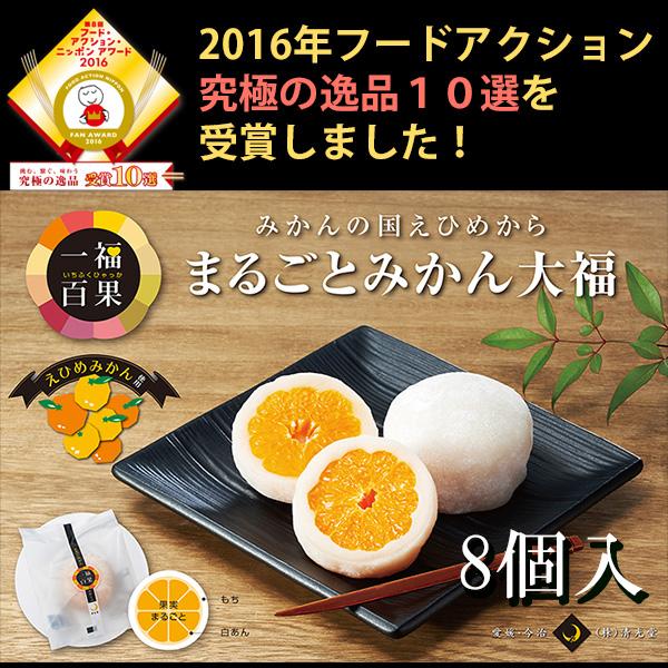 一福百果 まるごとみかん大福 8個入り 愛媛県今治にある和菓子屋 清光堂