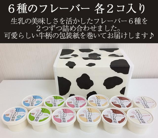 黒沢牧場 アイスクリーム12個セット90ml×各2個
