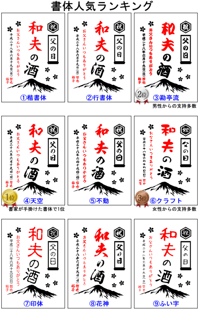 富士山フォントサンプル