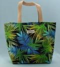 トート、バッグ、ミニ、きんちゃく、美しい、夏、やし、ブルー、グリーン