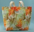 トート、バッグ、ミニ、きんちゃく、美しい、夏、やし、オレンジ、イエロー