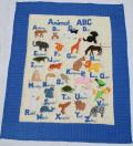 ABCベイビーキルト アニマル ブルー (BW07)