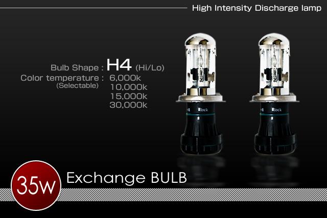 H.I.D System 補修パーツ35wH4 Hi/Lo電磁スライドバーナー(左右セット)