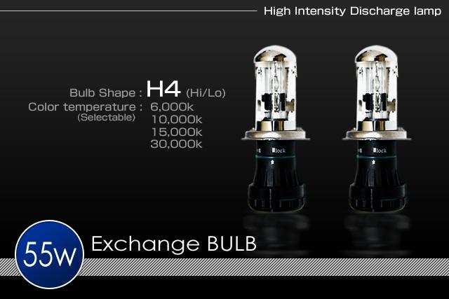 H.I.D System 補修パーツ55wH4 Hi/Lo電磁スライドバーナー(左右セット)