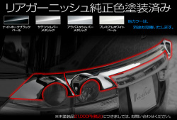 RGステップワゴン/リアガーニッシュ(3ピース)純正色塗装済み