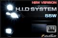 55W H.I.D System H1/H3/H7/H8/H11/HB3/HB4ケルビン数選択