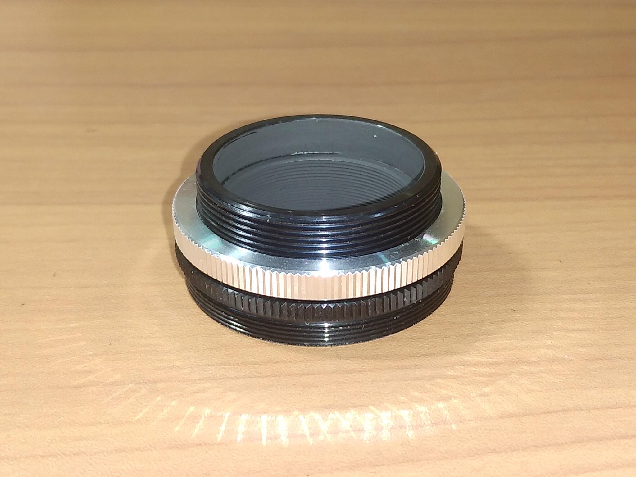 一眼カメラ接続アダプタ(36.4 - 42T アダプタ)↑