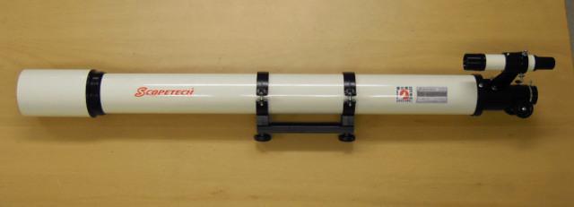 屈折式望遠鏡 STL80A-L (アタッチメントプレートと鏡筒バンドと6x30ファインダー付き)