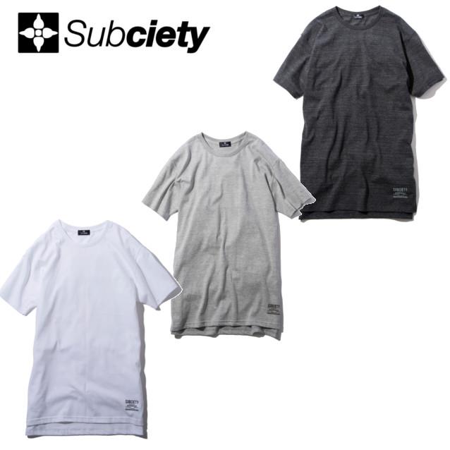 セール50%オフ SUBCIETY サブサエティー LONG LENGTH TEE STOMP Tシャツ