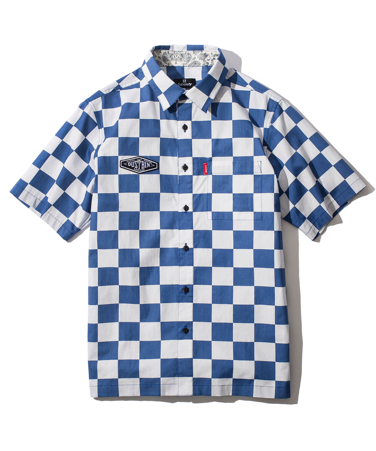 SUBCIETY サブサエティ CHECKER MESH SHIRT
