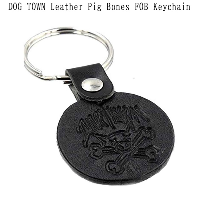 DOG TOWN ドッグタウン DT Leather FOB Key Chain