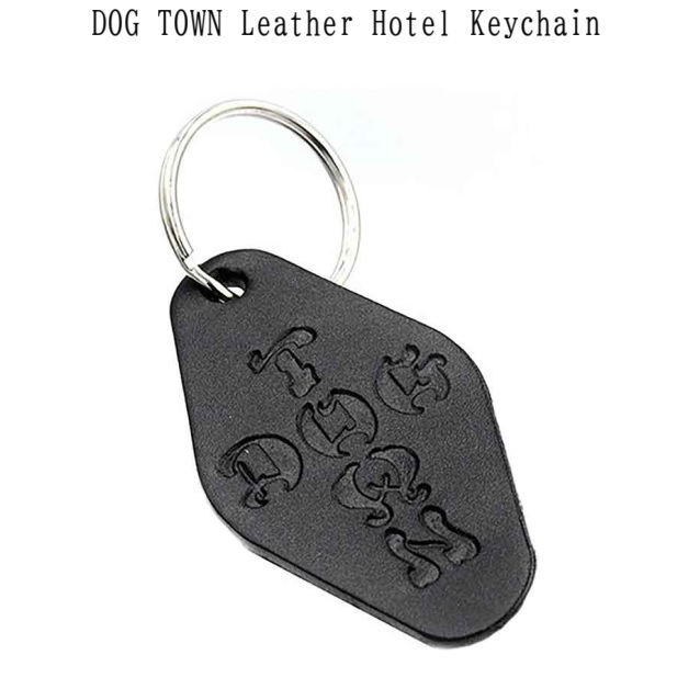 DOG TOWN ドッグタウン DT Leather Hotel Key Chain