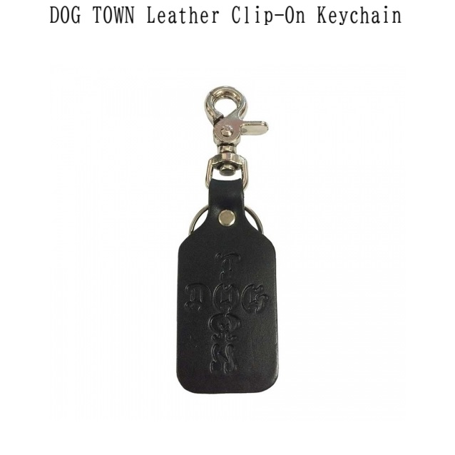 DOG TOWN ドッグタウン DT Leather Clip on Key Chain