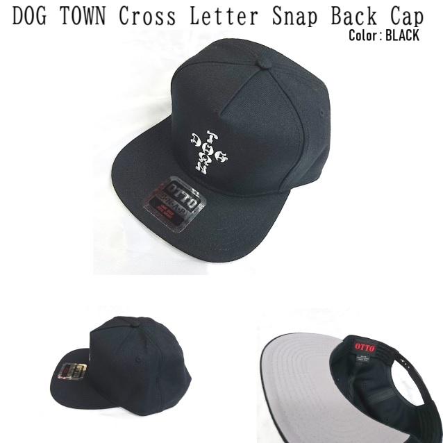 DOG TOWN ドッグタウン DT Cross Letters Snapback hat