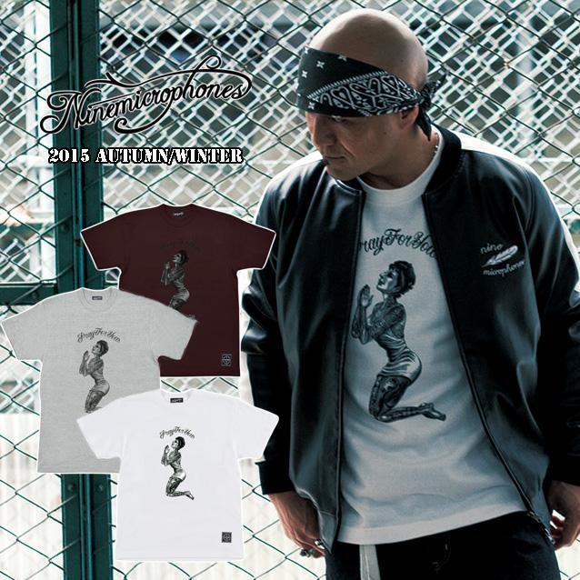 セール50%オフ NINE MICROPHONES ナイン To love and respect S/S Tシャツ