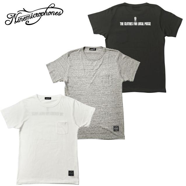 セール50%オフ NINE MICROPHONES ナイン POCKET VNECK TEE S/S-HOPE FOR Tシャツ