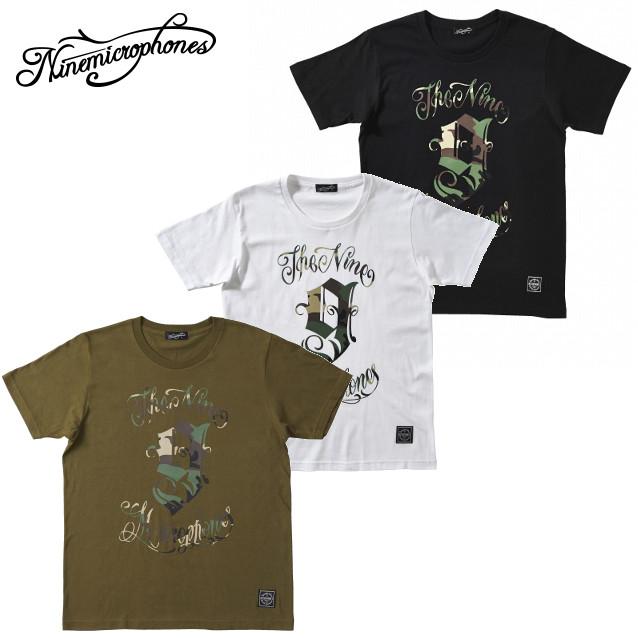 セール50%オフ NINE MICROPHONES ナインマイクロフォンズ 9MC Crew S/S CAMOUFLAGE Tシャツ