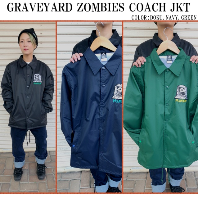 MxMxM MAGICAL MOSH MISFITS マジカルモッシュミスフィッツ GRAVEYARD ZOMBIES COACH JKT