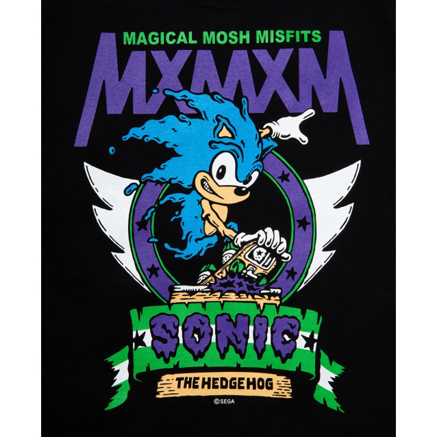"MAGICAL MOSH MISFITS マジカルモッシュミスフィッツ SONIC THE HEDGEHOG x MxMxM ""MAGICAL SONIC MISFITS"" TEE"