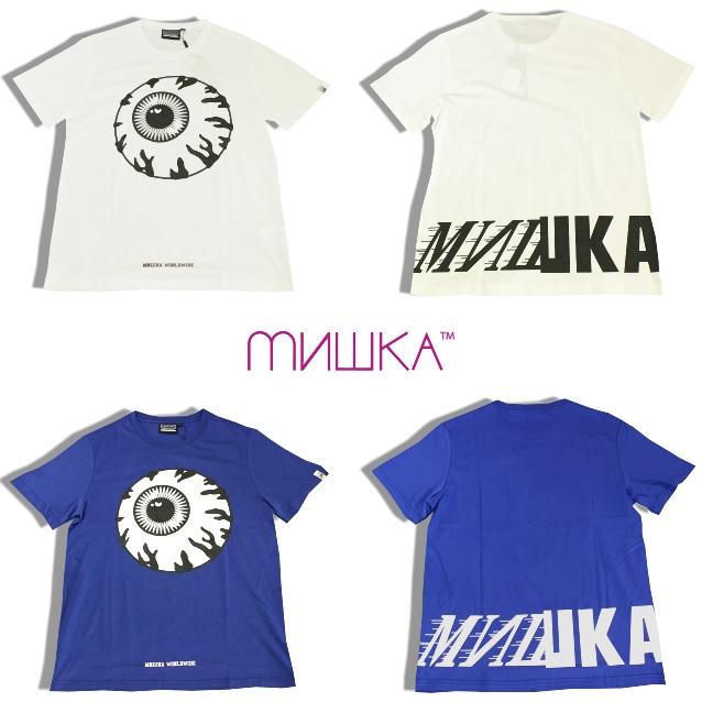 セール20%オフ MISHKA ミシカ BIG LOGO S/S TEE 半袖Tシャツ キープウォッチ KEEPWATCH 目玉