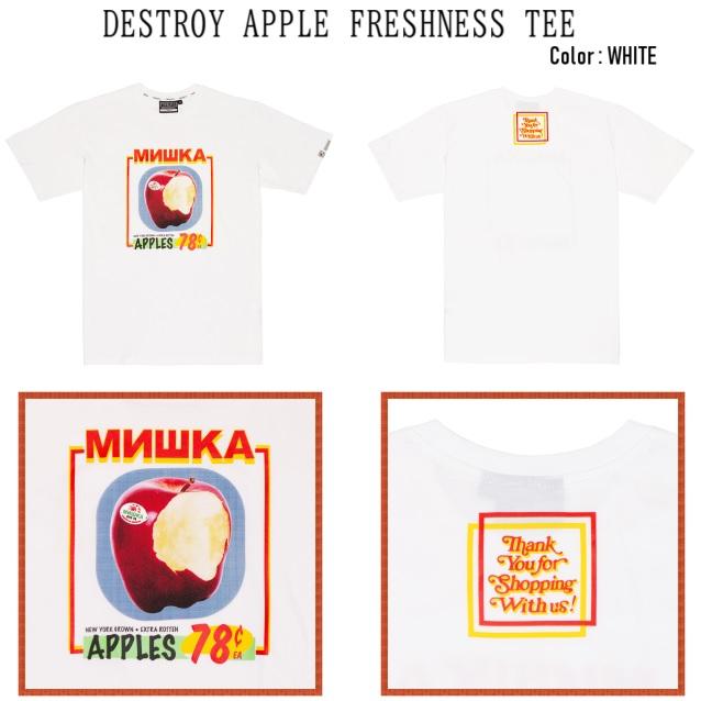 MISHKA ミシカ DESTROY APPLE FRESHNESS TEE