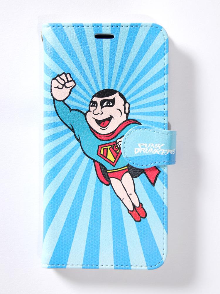セール 20%オフ PUNK DRUNKERS パンクドランカーズ 手帳型スマホケース(大きいサイズ) ヒーロー