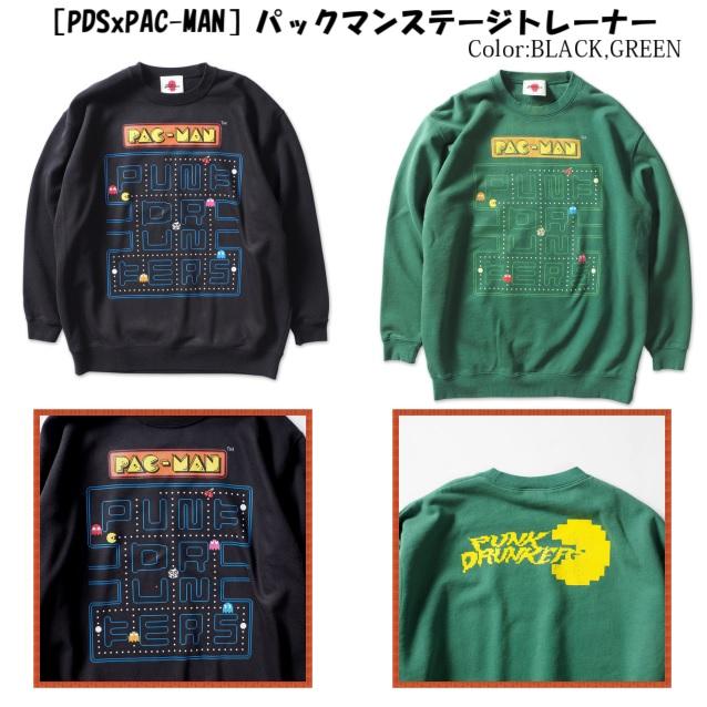 PUNK DRUNKERS パンクドランカーズ [PDSxPAC-MAN]パックマンステージトレーナー