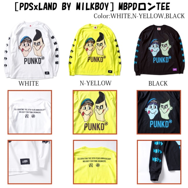 PUNK DRUNKERS パンクドランカーズ [PDSxLAND BY MILKBOY]MBPDロンTEE