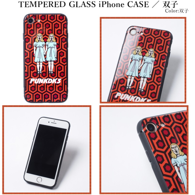 PUNK DRUNKERS パンクドランカーズ TEMPERED GLASSiPhone CASE 双子