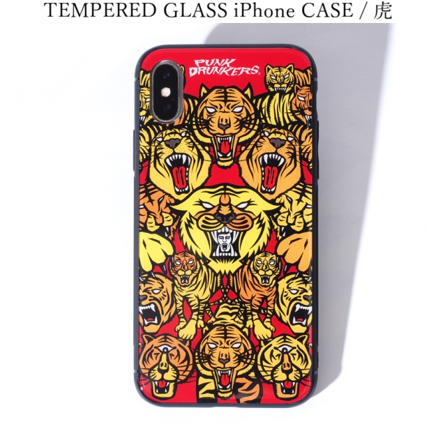 PUNK DRUNKERS パンクドランカーズ TEMPERED GLASS iPhone CASE 虎