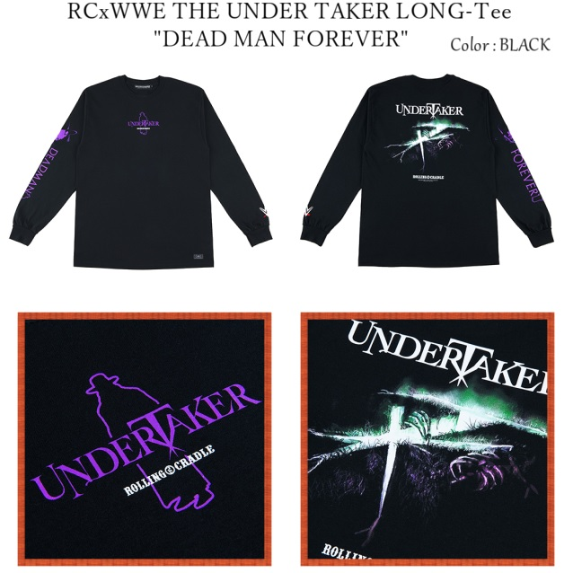 """ROLLING CRADLE ローリングクレイドル RCxWWE THE UNDER TAKER LONG-Tee """"DEAD MAN FOREVER"""""""