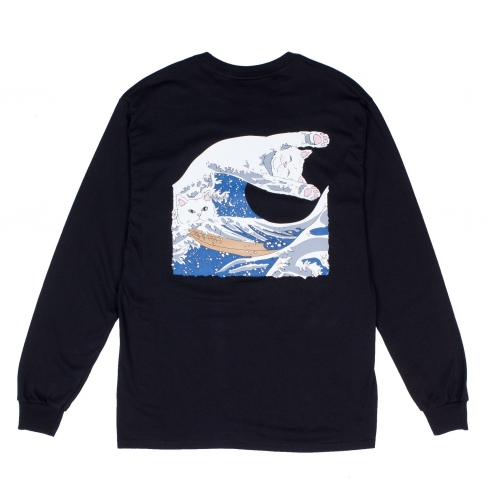RIPNDIP リップンディップ THE GREAT WAVE OF NERM L/S TEE